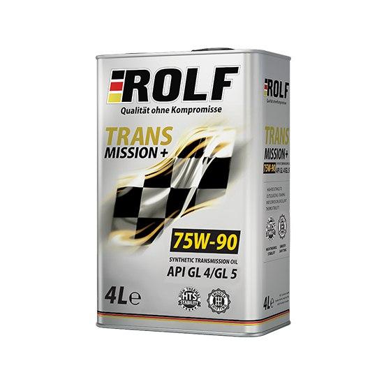 Трансмиссионное масло ROLF TRANSMISSION PLUS SAE 75W90 API GL-4/5 4Л