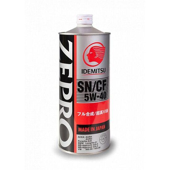 Моторное масло IDEMITSU ZEPRO EURO SPEC 5W40 SN/CF 1Л