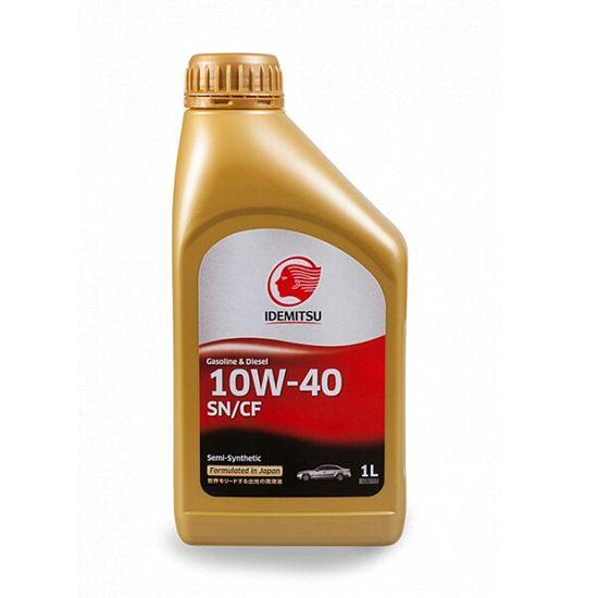 Моторное масло IDEMITSU SEMI-SYNTHETIC 10W40 SN/CF 1Л