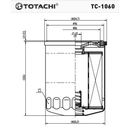 ФИЛЬТР МАСЛЯНЫЙ TOTACHI TC-1060 С-409A