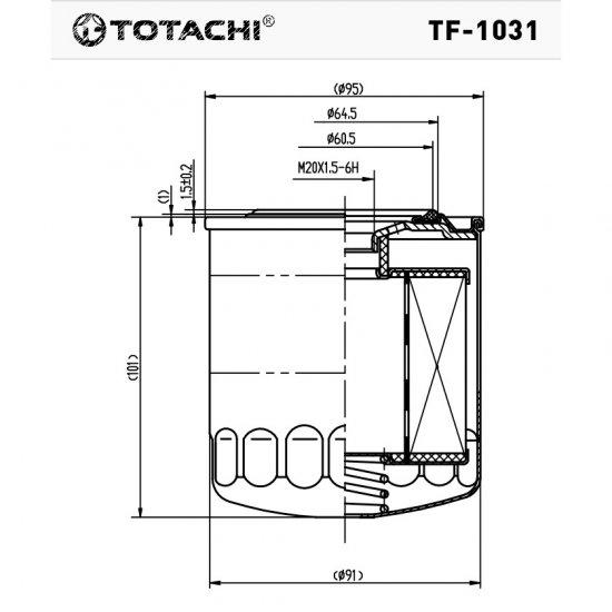 ФИЛЬТР ТОПЛИВНЫЙ FC- TOTACHI TF-1031 FC-318
