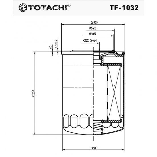 ФИЛЬТР ТОПЛИВНЫЙ FC- TOTACHI TF-1032 FC-319