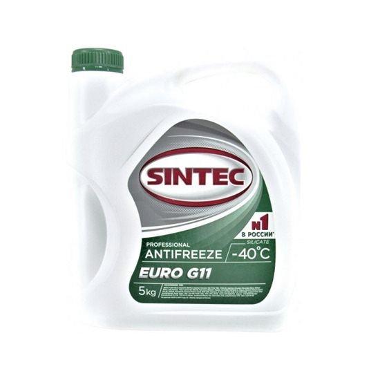 Антифриз SINTEC EURO -40 зеленый 5 кг