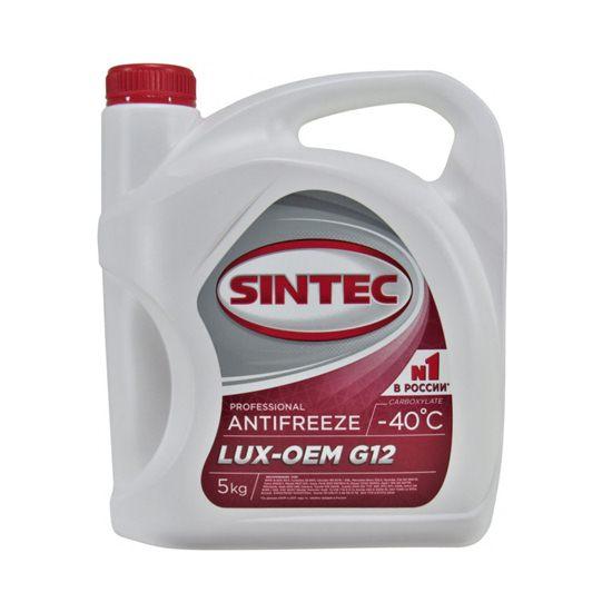 Антифриз SINTEC ЛЮКС G12-40 красный 5 кг