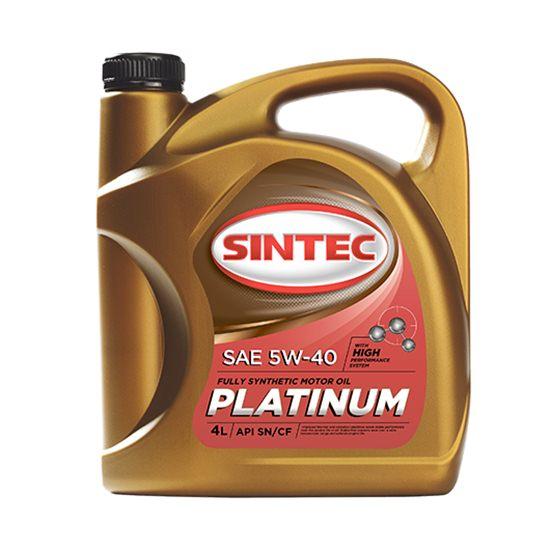 Моторное масло SINTEC ПЛАТИНУМ 5W40 синтетическое 4Л