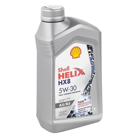 Моторное масло SHELL HELIX HX8 5W30 FULLY SYNTETIC A5/B5 1л