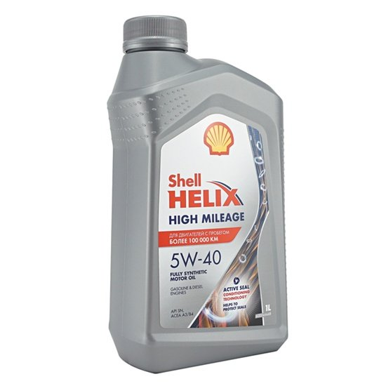 Моторное масло SHELL HIGH MILEAGE 5W40 1л