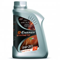 Моторное масло  G-ENERGY Synthetic Active 5w30 SL/CF A3/B4 синт 1л