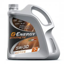 Моторное масло G-ENERGY Synthetic Active 5w30 SL/CF A3/B4 синт 4л