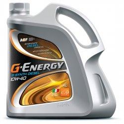 Моторное масло  G-ENERGY S Synth Diesel 10w40 синт  4л